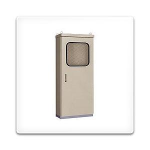OEM50-714A 日東工業 屋外用窓付自立制御盤キャビネット・屋根付[鉄製基板付]・ライトベージュ色(700×1400×500、片扉)|nagamono-taroto