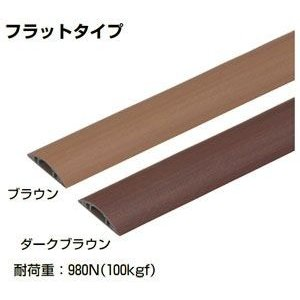 OP5-2W1x10 未来工業 ワゴンモール(木目調)(ブラウン・2m)(10本入)|nagamono-taroto