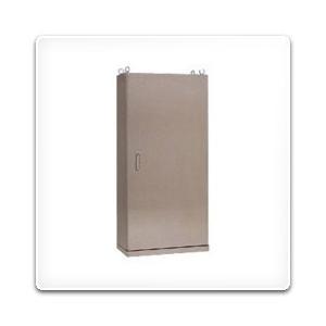 SE35-714 日東工業 ステンレス自立制御盤キャビネット(水切、防塵・防水パッキン付)[鉄製基板付](700×1400×350、片扉)|nagamono-taroto