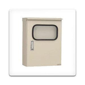 SORM25-610HA 日東工業 ステンレス窓付屋外用制御盤キャビネット(水切、防塵・防水パッキン付)[鉄製基板付](600×1000×250、窓410×310、片扉)|nagamono-taroto