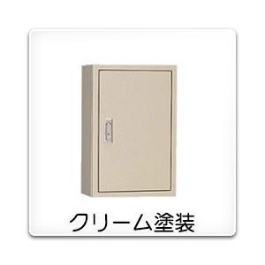 T-40RC 日東工業 電話用保安器キャビネット(露出形)・保安装置スペースなし[木製基板付]・クリーム色(600×900×140、片扉)|nagamono-taroto