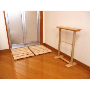 日本製 ひのき製マット干しすのこ&タオルスタンドセット|naganoscom