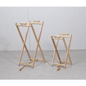 ひのき製レジ袋ハンガー 大小2個セット / ゴミ袋スタンド / 木製|naganoscom