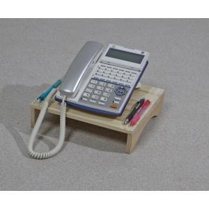 ひのき製電話台 幅24cmタイプ / オフィス用電話機台 / ひのきテレフォンスタンド|naganoscom