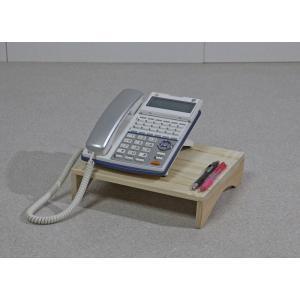 ひのき製電話台 幅28cmタイプ / オフィス用電話機台 / ひのきテレフォンスタンド|naganoscom