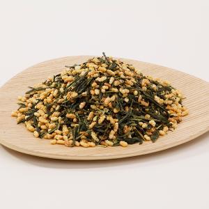 お茶 オーガニック 有機 玄米茶 茶葉(リーフ)お徳用 1kg Organic genmaicha brown rice tea|nagata-chaen