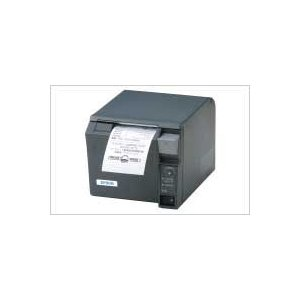 EPSON レシートプリンター TM-T70 (EthernetLAN/PS180+AC170電源付属/58mm/ダークグレー) イーサネット接続|nagatsuna