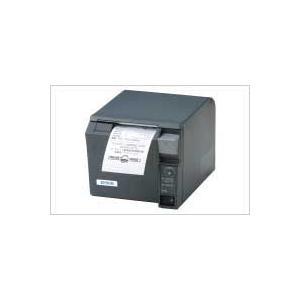 EPSON レシートプリンター TM-T70 (無線LAN/PS180+AC170電源付属/58mm/ダークグレー) 無線LAN接続|nagatsuna
