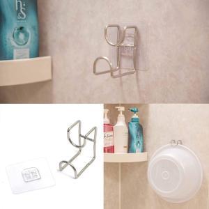 洗面器フック ステンレス 粘着式 収納 スタンド 強力 壁 傷つけない お風呂 洗面所 洗い桶掛け おしゃれ バス用品 安い|nagomi-company