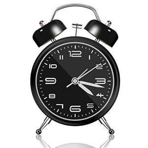 目覚まし時計 おしゃれ 大音量 子供 置き時計 電池式 明かり 光 ベル アナログ 針時計 卓上時計 アラーム めざまし時計 お誕生日 プレゼント 起きれる nagomi-company