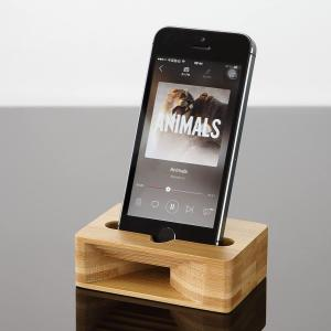 スマホ スピーカー 竹製 スマホスタンド ホルダー 木製 iPhone Android SAMSUN...
