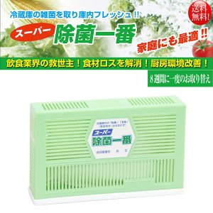 除菌消臭剤 冷蔵庫用 業務用冷蔵庫用 スーパー除菌一番 250L用 10個入り|nagomishop