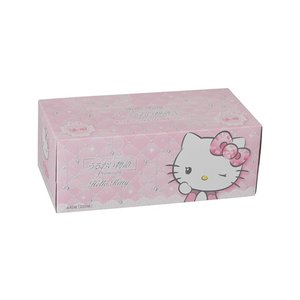 箱ティッシュ まとめ買い キャラクター箱ティッシュ うるおい物語ハローキティ220W 10箱 ハヤシ商事 nagomishop