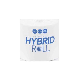 業務用トイレットペーパー 丸富製紙 ハイブリッドロール1R ダブル130m 個包装32個 まとめ買い 送料無料|nagomishop