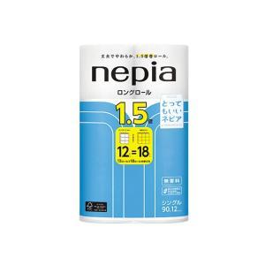 トイレットペーパー まとめ買い 王子製紙 ネピア ロングロール1.5倍 シングル90m 12Rx6P|nagomishop