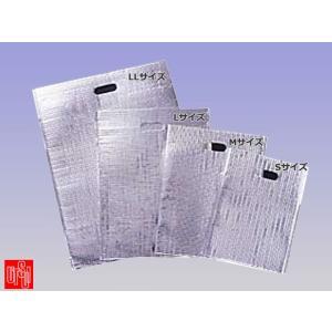 保冷袋 ウツヰ ミラクルパック 平袋LLサイズ 両面テープ・取っ手穴付き 350x475mmマチ無し 250枚入り|nagomishop