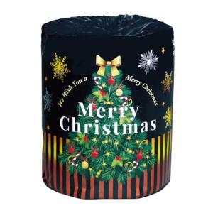 クリスマス X'mas 販促用 贈答用 粗品 景品 トイレットペーパー クリスマスロール 個包装1R 30mダブル 100個 まとめ買い 送料無料|nagomishop