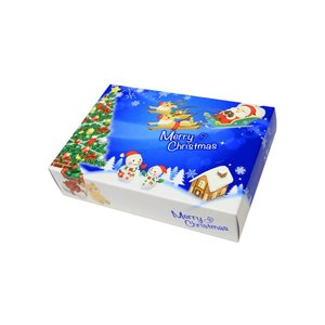 クリスマス X'mas 販促用 贈答用 粗品 景品 箱ティッシュ ポストカードクリスマスティッシュ 25W 100個 まとめ買い 送料無料 nagomishop