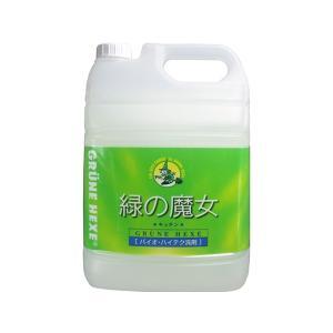 台所用弱酸性洗剤 緑の魔女 キッチン用洗剤 業務用5LX3本 nagomishop