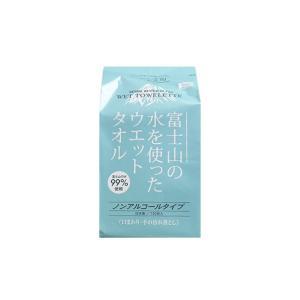 ウエットティッシュ 富士山の水を使った ウェットタオル ノンアルコール 詰替用 100枚x24P コーヨー化成|nagomishop