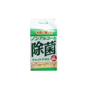 ウエットティッシュ ノンアルコール除菌ウェットタオル 詰替用 厚手 100枚x24P コーヨー化成|nagomishop