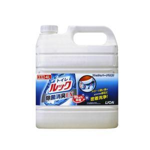 業務用 トイレ用洗剤 ライオン トイレルック 除菌消臭EX 4LX3本 酸性洗剤 nagomishop