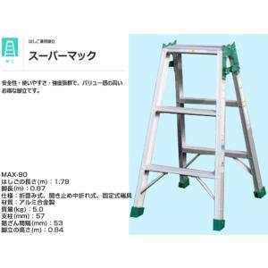 はしご兼用脚立 ナカオNAKAO スーパーマックMAX-90 脚長0.87m はしご全長1.79m 重量5.0kg|nagomishop