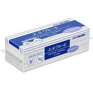 ペーパータオル 業務用 エルヴェールエコスマート 小判 200枚X42P まとめ買い 送料無料|nagomishop