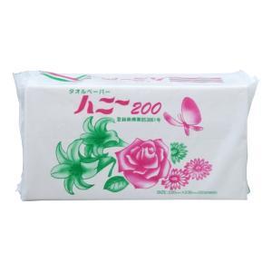 ペーパータオル 業務用 林製紙 タオルハニー200 中判 200枚X25P まとめ買い 送料無料|nagomishop