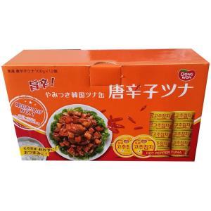 唐辛子ツナ缶 ピリ辛ツナフレーク やみつき韓国ツナ缶 100gx12缶入り