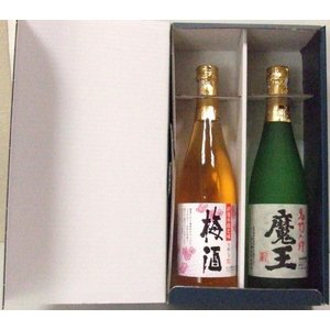 魔王 芋焼酎・彩煌の梅酒(さつまの梅酒) 720ml×2本セット 簡易箱入/白玉醸造|nagoya-8848