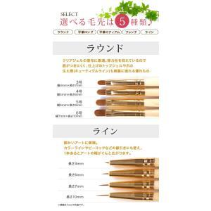 【メール便OK】『自然素材だから手に馴染む!ジェルネイルの仕上がりに差がつく』職人の筆(木製) ジェルネイル用選べる20種類 平筆、フレンチ、ラウン|nailkoubouu|02