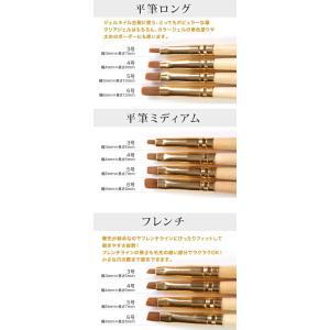 【メール便OK】『自然素材だから手に馴染む!ジェルネイルの仕上がりに差がつく』職人の筆(木製) ジェルネイル用選べる20種類 平筆、フレンチ、ラウン|nailkoubouu|03