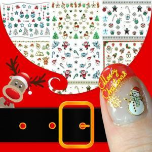 【メール便OK】ネイルシールで本格かわいいクリスマス!【プレゼント】【サンタクロース】【トナカイ】【雪の結晶】 nailkoubouu