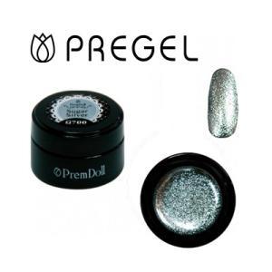ジェルネイル カラージェル プリジェル PREGEL プリムドール DOLL-700 シュガーシルバー 3g