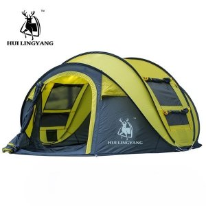 テント 大家族 キャンプ クイックオートマチックオープニング テント 防水 キャンプ ハイキング H...