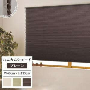 プリーツスクリーン ハニカムシェード 無地 調光 規格品 彩 幅40×高さ135cm