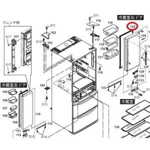 パナソニック 冷蔵庫用冷蔵室右側ドアパッキン CNRAD-341770