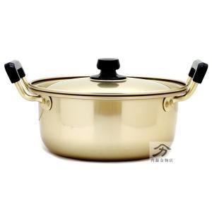 アカオアルミ 純しゅう酸実用鍋20cm2.8L 日本製|naitokanamono