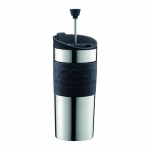 Bodum トラベルプレス マグ用フタ付コーヒーメーカー 0.35L ブラック|naitokanamono