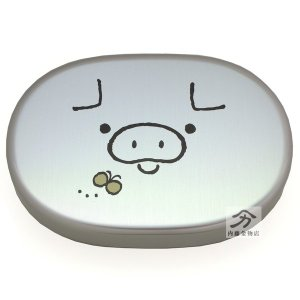 HAKOYA こぶたアルミ弁当箱 300ml|naitokanamono