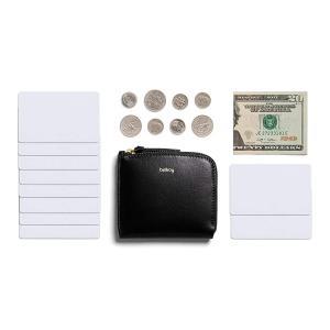 Bellroy ポケット ミニ - ユニセックス コンパクトレザー財布(10枚までのカード、現金)-Black|naivecanvas