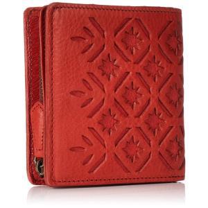 ゲンテン 折り財布 二つ折り財布 キリコ アカ|naivecanvas