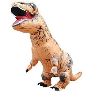 恐竜 ハロウィン ティラノサウルス インフレータブル 空気充填 膨張式 衣装セット 着ぐるみ コスチューム 大人用 子供用 ハロウィーン パ|naivecanvas
