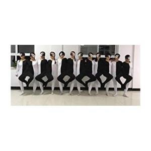 (ヨーテイ) Youtei 黒白 タイツ 錯覚 錯視 ライン ダンス 忘年会 余興 全身 ハロウィン 学芸会 コスプレ衣装 顔 出し (17|naivecanvas