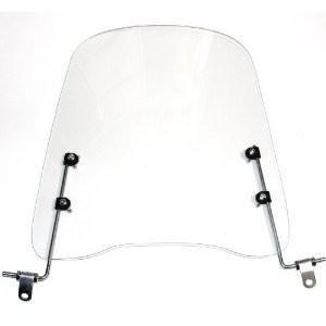 取付簡単 原付 スクーター ウインドスクリーン バイク 風防 高さ42cm 厚さ3mm|naivecanvas