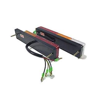 20連 LED テール ランプ ウインカー 角型 12V 左右 2個 セット 防水 トラック トレーラー フォークリフト 用 ライト パーツ|naivecanvas
