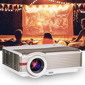 最新 家庭用プロジェクター 5000ルーメン 1080pフルhd 高解像度 1920 1080 対応...