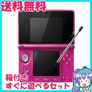 ニンテンドー 3DS グロスピンク 箱付き すぐに遊べるセット 中古|naka-store