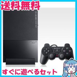 訳あり PlayStation 2 チャコール・ブラック SCPH-90000CB プレステ2 中古 箱なし すぐに遊べるセット|naka-store
